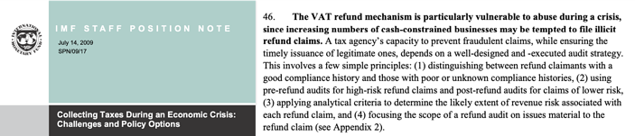 Vat recovery